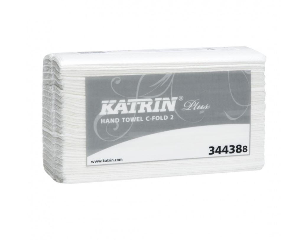 Käsipyyhe Katrin Plus 2, C-fold, 24 pkt/sk, valkoinen 2